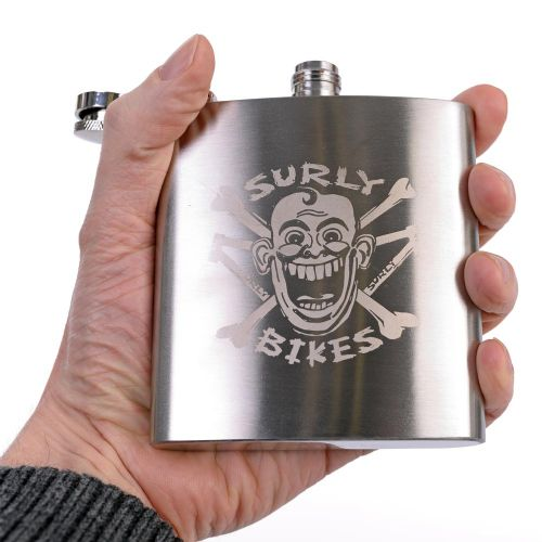 Surly Hip Flask, Stainless Steel - Engraved Logo